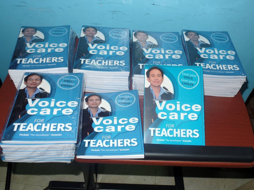 Voice Care for Teachers written by the VoiceMaster