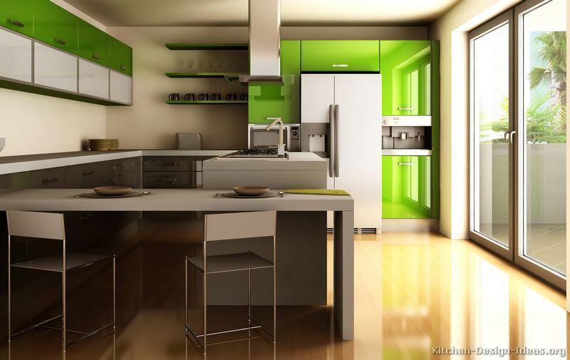 Modern Kitchen Green Home Designs