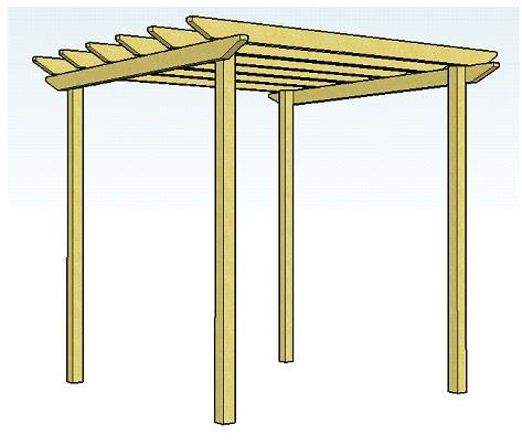 Wood Pergola Plans and Designs - Wood Pro: Free Pergola Plans Download
