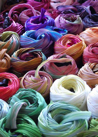 silk shibori ribbon