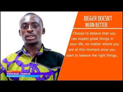 Vblog: Bigger Doesn't Mean Better. #BeInspired!