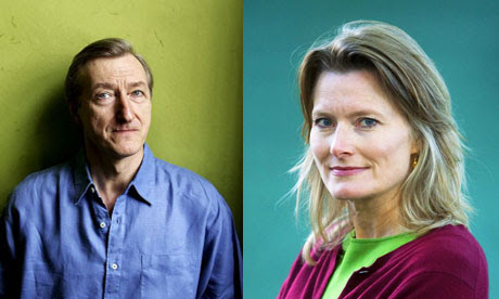 Julian Barnes (left) and Jennifer Egan