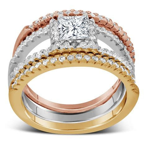 The most expensive wedding ring: Tri color wedding ring sets