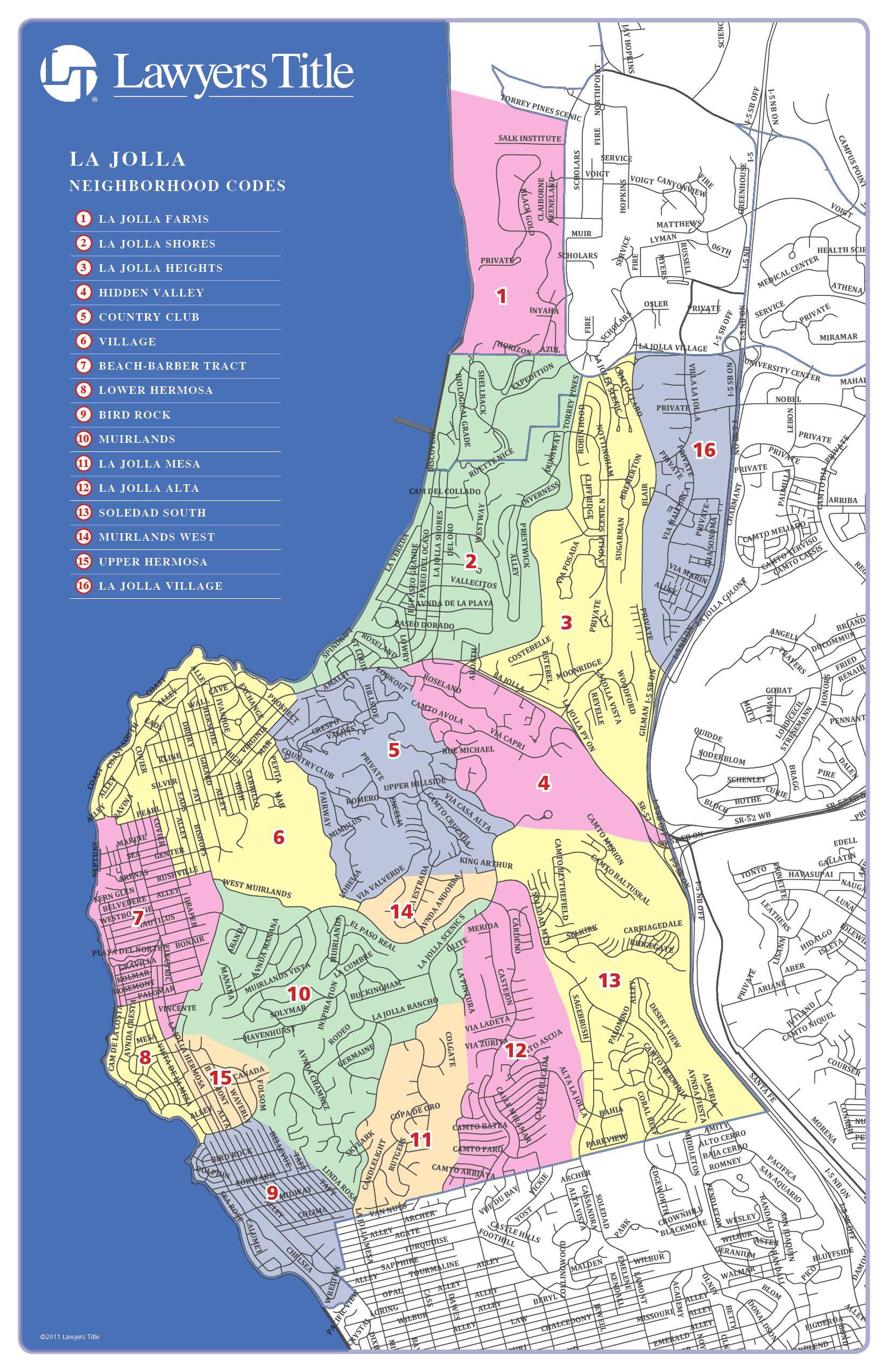 Map Of La Jolla California Neighborhoods And La Jolla