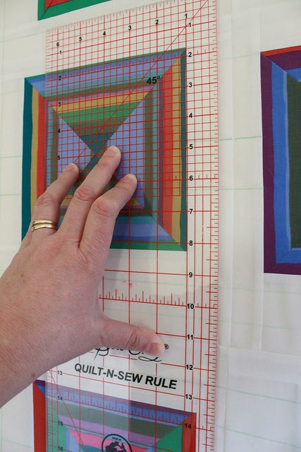 Marking the quilting lines