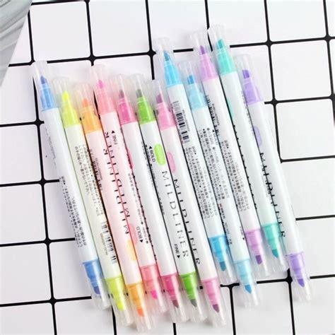 pcsset japanese mildliner pens mild liner double
