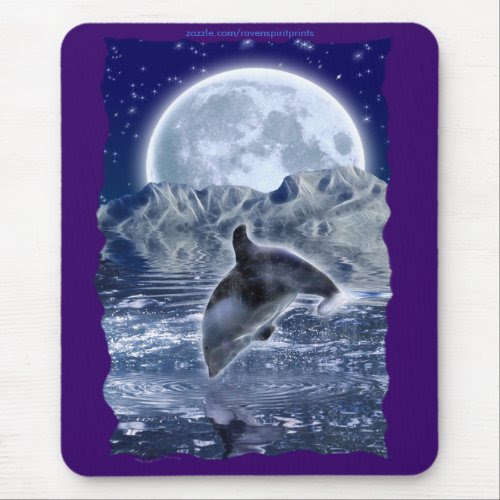 SWIMMING PACIFIC DOLPHIN Art Mousepad mousepad