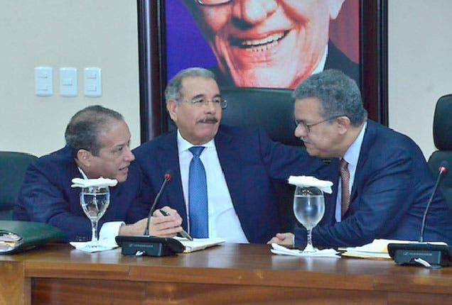 Reinaldo Pared, Danilo Medina y Leonel Fernández/Foto: Fuente externa.
