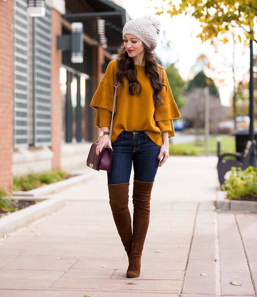 20 best outfits with mustard sweaters for women in 2018