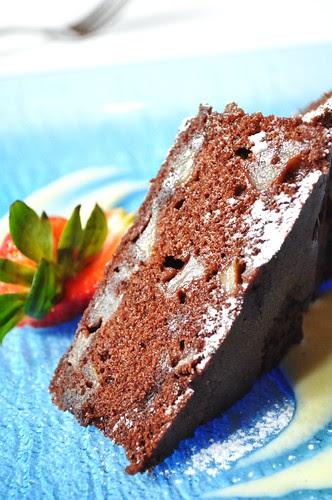 pear and chocolate cake