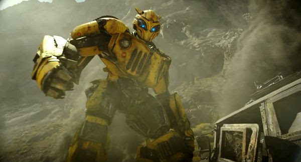 With his visor down, Bumblebee is ready to do battle in BUMBLEBEE.