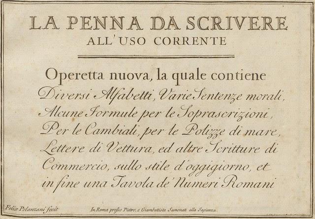 La penna da scrivere - Francesco Polanzani, 1768