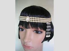 Gatsby Headpiece, Pearl Headband, Art Deco Forehead Band, Pearl Headdress, Gatsby Bridal Jewelry