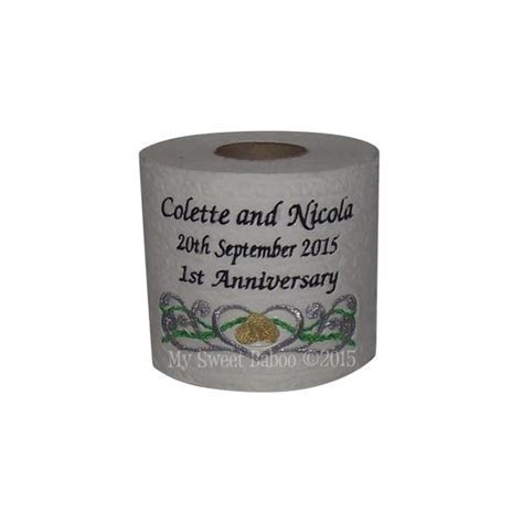 Personalised Toilet Roll Ideal 1st Wedding Anniversary Gift