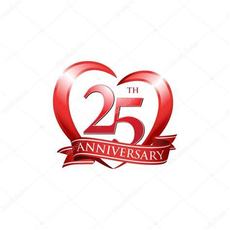 25th anniversary logo red heart ? Stock Vector © ariefpro