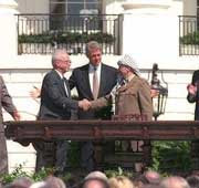 photo of clinton, rabin & arafat