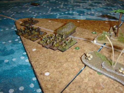 Marines land on 'The Beak' driving Japanese out of their defences