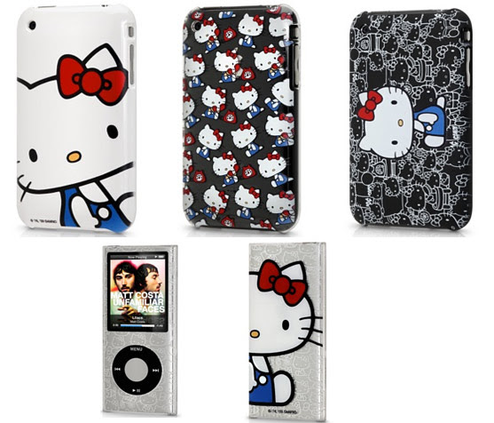 Just popped up at the Apple Store are Hello Kitty cases for the iPhone 3GS,