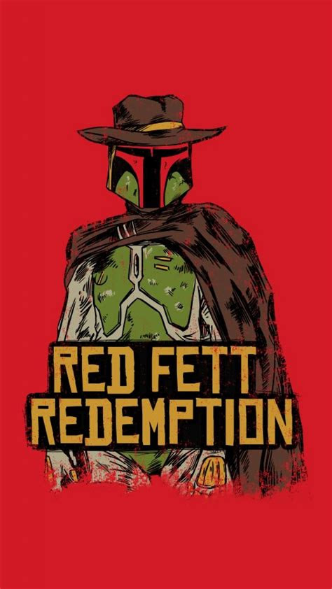star wars funny boba fett red dead redemption wallpaper