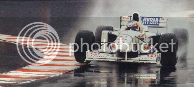 Rubens Barrichello Stewart Mónaco 1997 podium