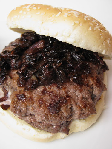 Bison Blucy with Onion Balsamic Marmalade