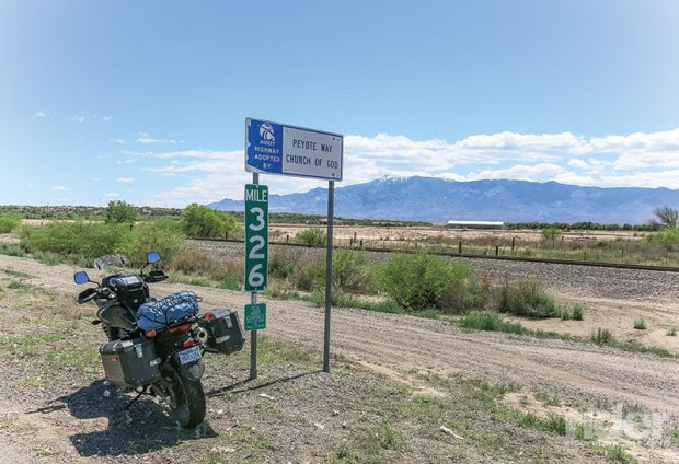 Some Arizona DOT fellow must have had a sense of humor, allowing the Peyote Way Church of God to take responsibility for keeping a couple of miles of the U.S. Route 70 roadside clean.