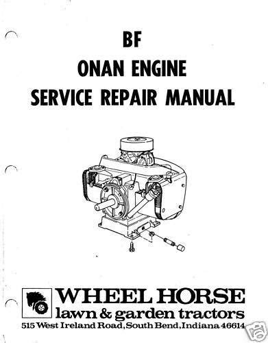 Onan BF Engine Service Repair Manual | eBay