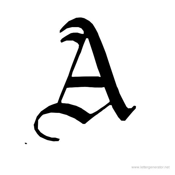 Old English Alphabet Gallery - Free Printable Alphabets | LETTER ...
