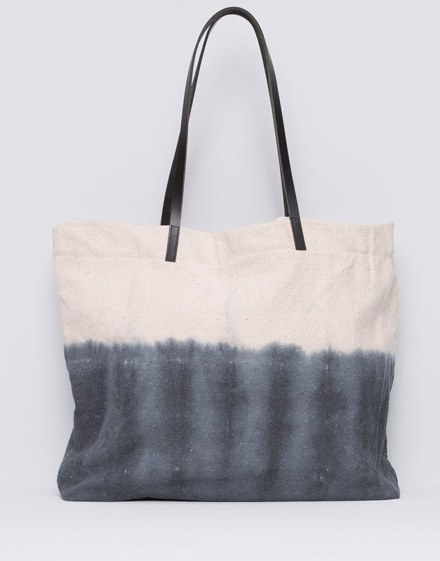Pull&Bear - mujer - bolsos y mochilas - bolso shopper bicolor - crudo - 09821327-I2015
