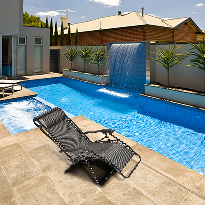 Zero Gravity Chair - Outdoor Lounge Folding Reclining ...