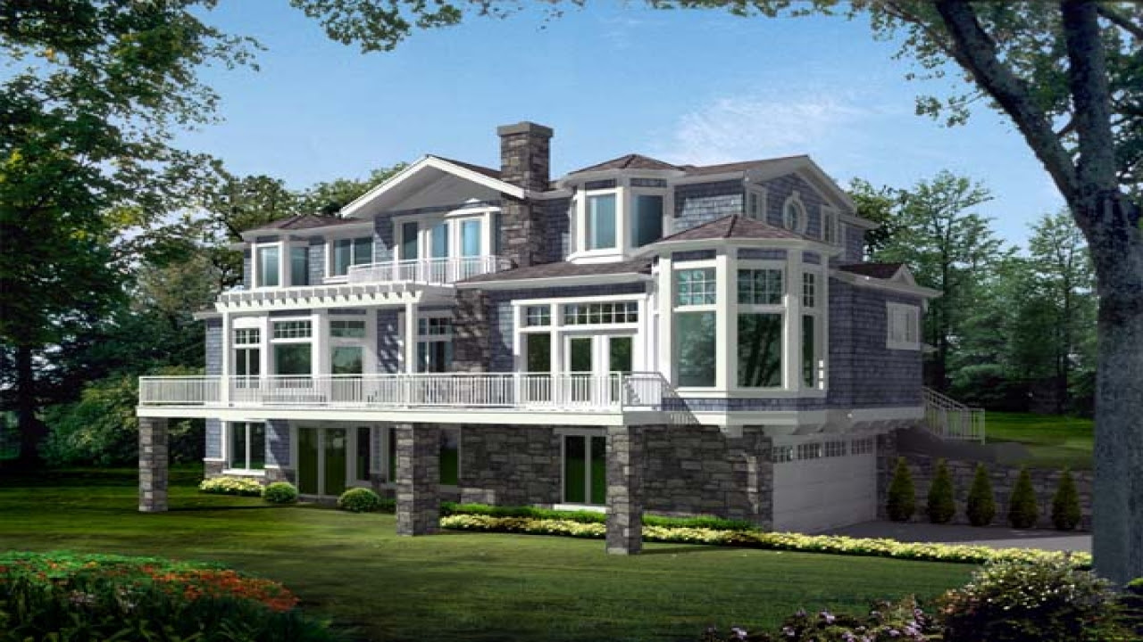 Narrow Lot House Plans Lakefront  Lakefront  House  Plans  for