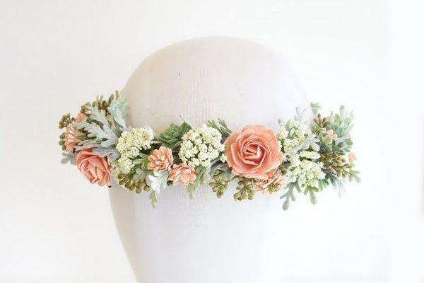 Curso corona de flores naturales