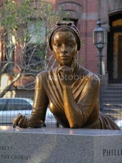 statue of Phillis Wheatley, first black woman to publish a book