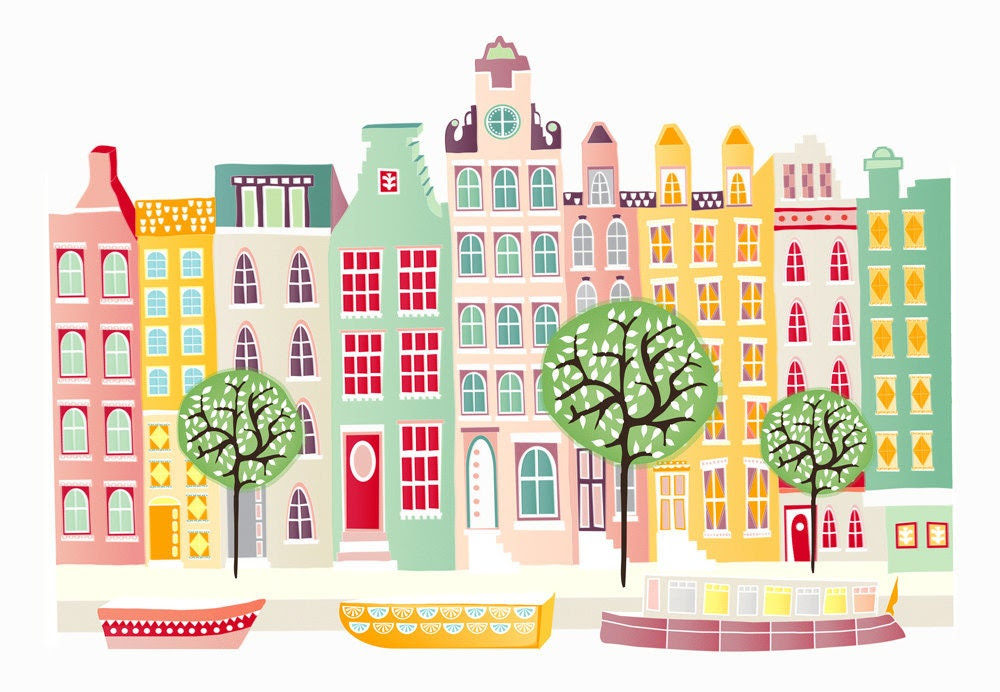 Amsterdam Canal houses - A2 large print