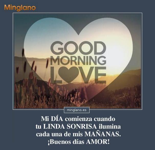 Frases Bonitas De Buenos Dias A Mi Amor Amor T