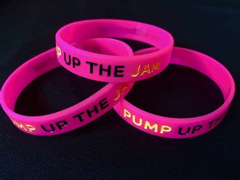 Clubbercise   'PUMP up the JAM' wristbands (pack of 3)
