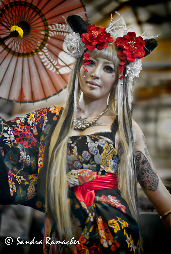 Asian tattoos and costume, 2012 Sydney Tattoo & Body Art Expo  by Sandra Ramacher
