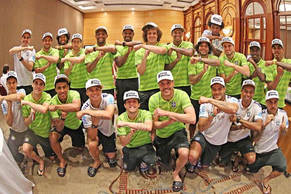 Jogadores se uniram para homenagear Neymar em Belo Horizonte