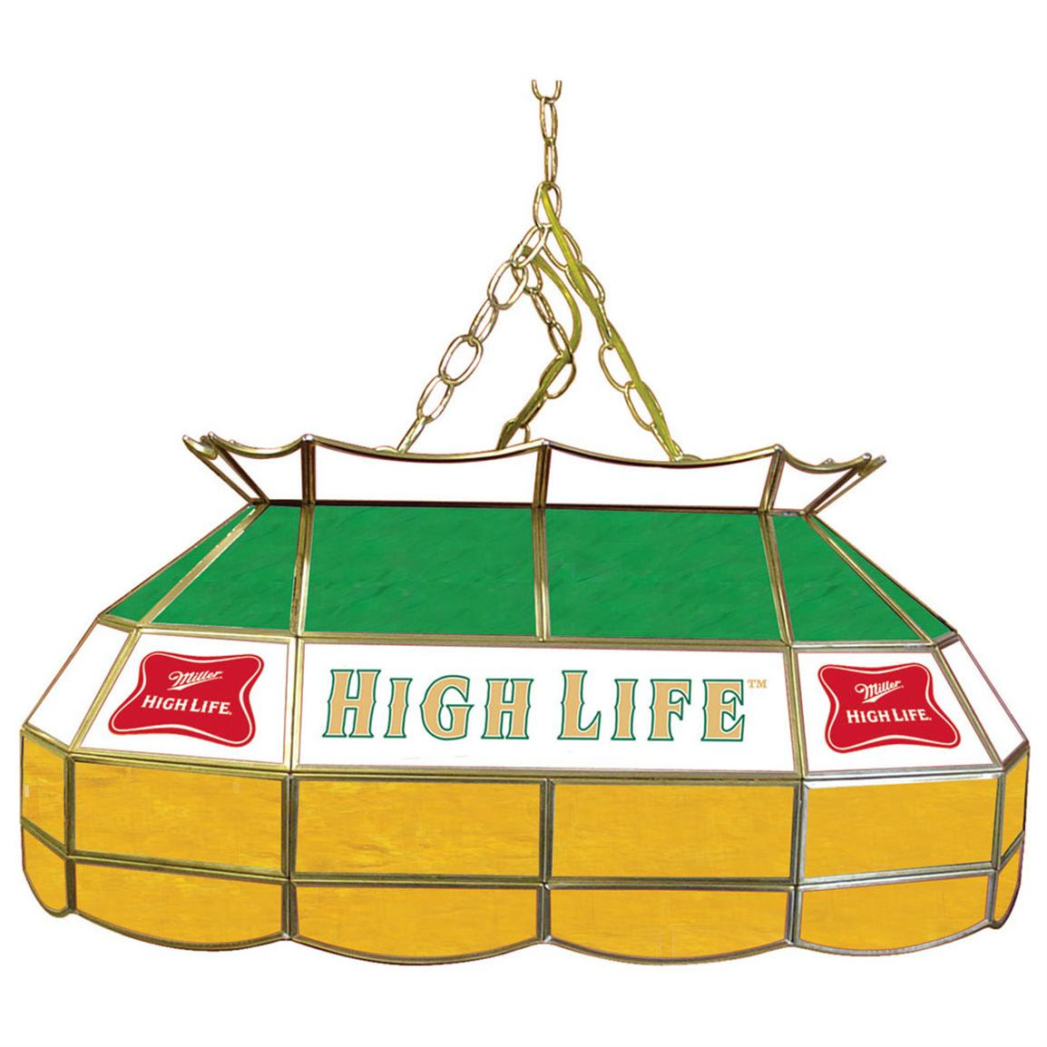 """Miller High Life® 28"""" Stained Glass Pool Table Light ..."""