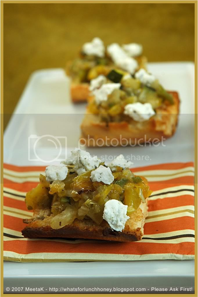 Roasted Veg Bruschetta (01) by MeetaK