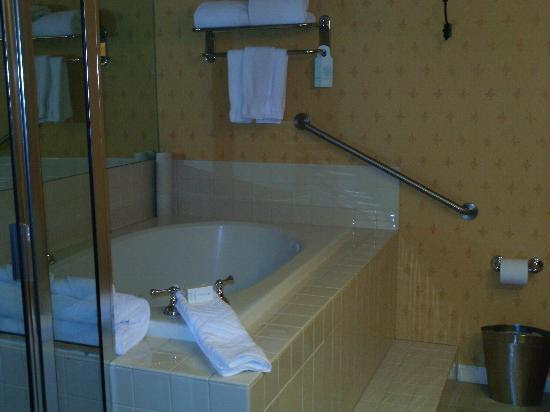 Bathroom with Jacuzzi - Picture of Hilton New Orleans/St. Charles ...
