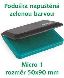Zelená razítkovací poduška M 1