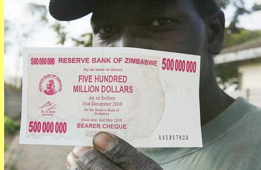 Dólar US: a caminho da paridade com o do Zimbabwe...