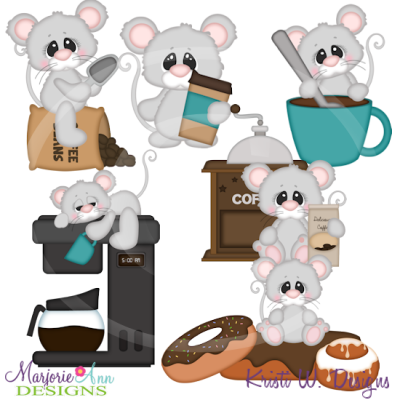 Morning Coffee Cutting Files-Includes Clipart
