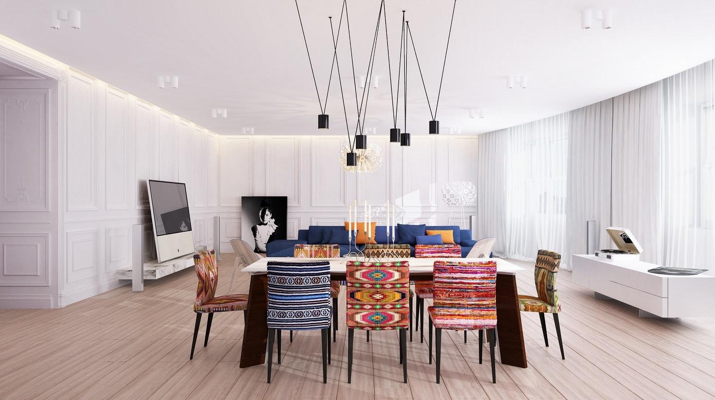 Eclectic Dining Roominterior Design Ideas
