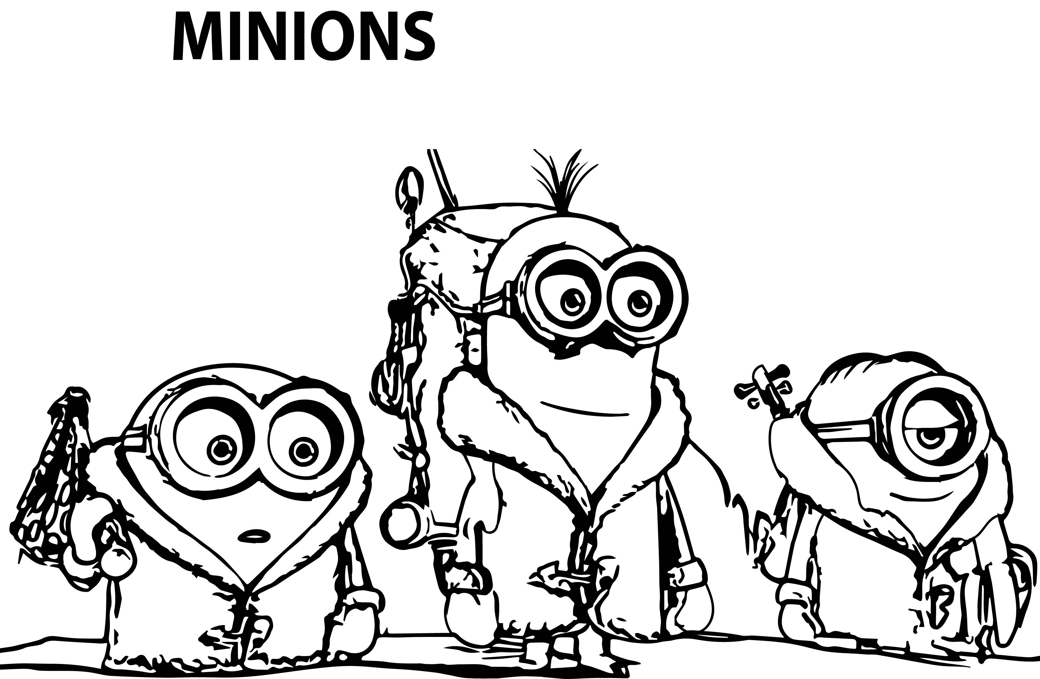 100 Dibujos De Minions Para Colorear Oh Kids Page 4