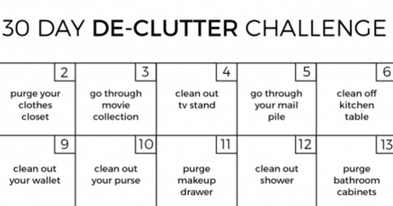 1f784f9224 Challenge: How to De-Clutter Your Home in 30 Days - sweetmangy