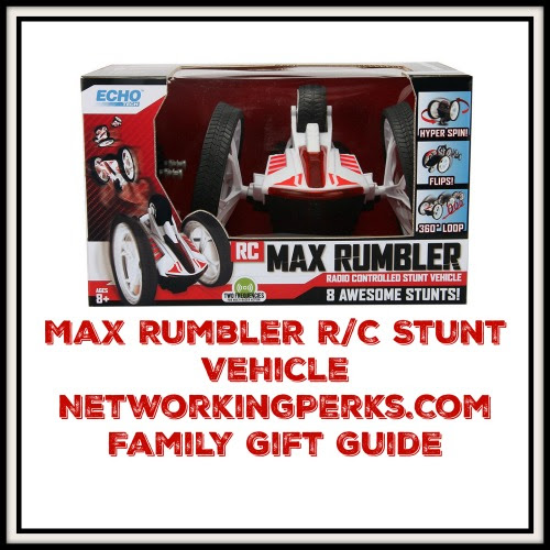 Enter the Max Rumbler R/C Stunt Vehicle Gift Guide Giveaway. Ends 12/30