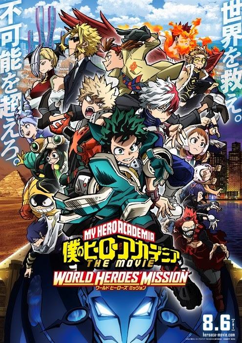 My Hero Academia THE MOVIE: World Heroes'Mission , ganha um novo visual