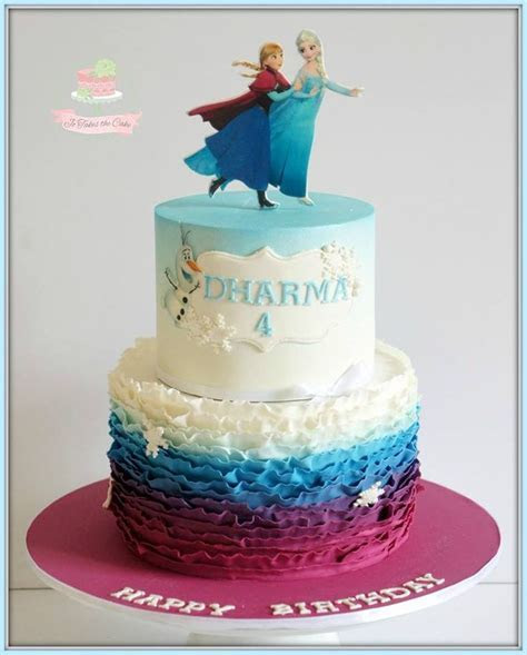 215 best images about Cakes   Frozen on Pinterest